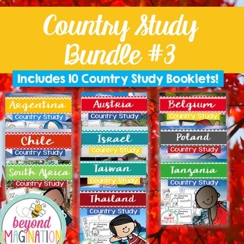 Booklet Bundle Country Study Project Unit #3