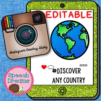 EDITABLE Country Study Instagram Booklet