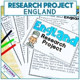 Country Research Project - A Country Study About England