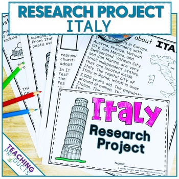 Country Research Project - A Country Study About Italy