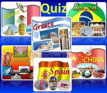 Back to School Activities - Quiz - China Japan Spain Greece Mexico Brazil