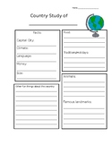 Country Study Sheet
