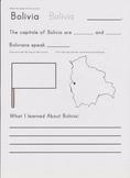 Country Study Sheet- Bolivia