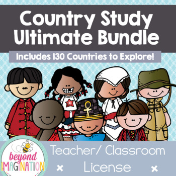 Country Study Ultimate Bundle {43 Countries Save $50.50) | Access via Dropbox
