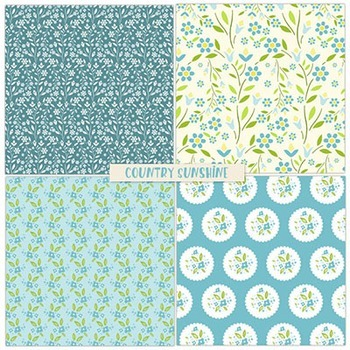 Country Sunshine Floral Patterned Papers