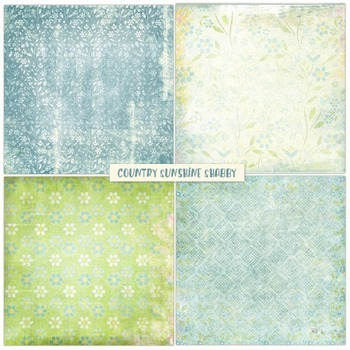 Country Sunshine Shabby Chic Digital Papers