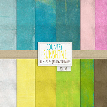 Country Sunshine Wildflower Solid, Textured Digital Papers