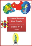 Country Thematic Units Bundle for Grades 3-4-5