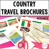 COUNTRY TRAVEL BROCHURE   Editable Templates   Distance Learning