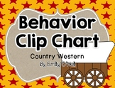 Country Western Behavior Clip Chart