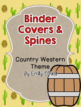 Country Western Binder Covers & Spines