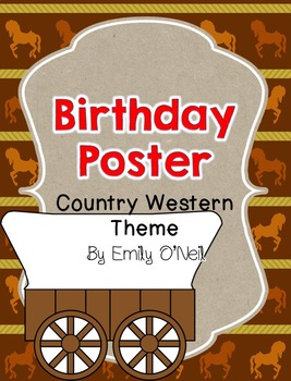 Country Western Birthday Poster