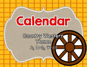 Country Western Calendar Set