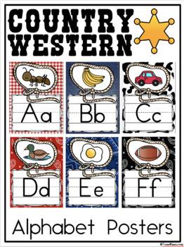 Country Western Classroom Decor Bundle