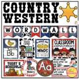 Country Western Decor Bundle with Schedule Cards, Classroom Jobs and more!