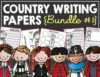 Country Writing Papers BUNDLE! (26 Countries/Regions!)