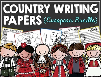 Country Writing Papers EUROPEAN BUNDLE!