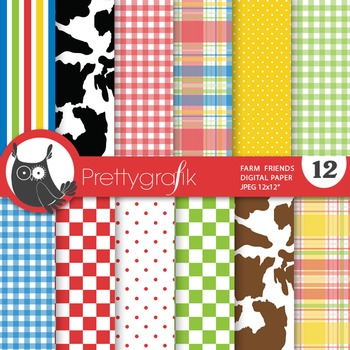 Country farm digital paper, commercial use, scrapbook papers - PS683