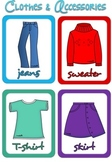 Country- flag-clothes-accessories flash cards