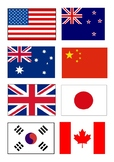 Country flags Chinese Mandarin matching game