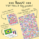 Country flags of the world: 263 Country flags - clip art BUNDLE! (1052 clips!)