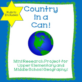 Country in a Can Project End of the Year Activity