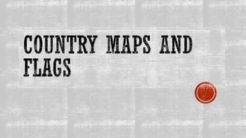 Country maps and flags images for view