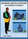 Country match activities - The African Continent