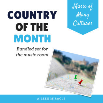 Country of the Month {Bundle for the Music Room}
