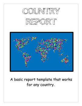 Country report -- a versatile report organizer for students