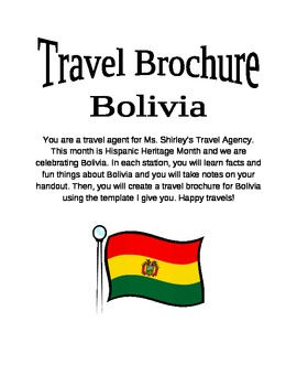 Country/Region/State Study-- Travel Brochure-- EDITABLE