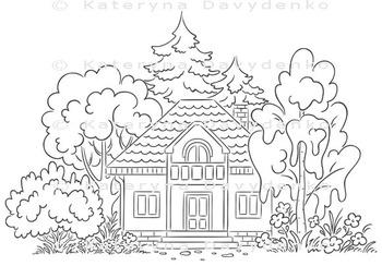 Countryside House with a Garden