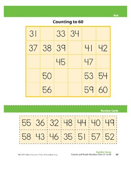 Counts and Reads Numbers from 31 to 60