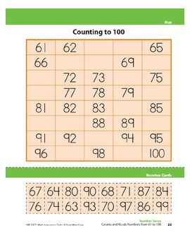 Counts and Reads Numbers from 61 to 100