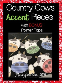 Country Cow Accent Pieces