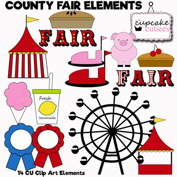 County Fair Carnival Digital Clip Art Elements