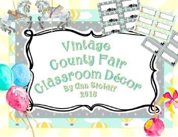 County Fair Classroom: Labels