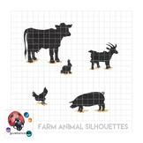 Farm Animal Silhouette Clipart