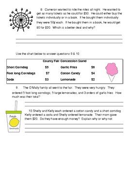 County Fair Math Review