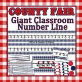County Fair USA Themed Giant Classroom Number Line and Stu