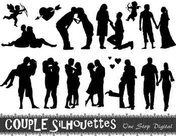 Couples Silhouettes Clip Art Husband Wife Silhouette Parents Silhouettes Clipart