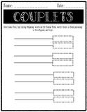 Couplets Template - Writing Poetry