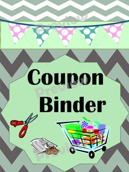 Coupon Binder Green/Gray Save $$$ for your Family