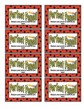 Coupon Incentives for the Classroom - Polka Dot or Ladybug