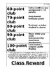 Coupon Menu for incentives (for ClassDojo Point Clubs)
