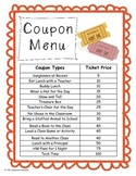 Coupon Reward Ticket Menu Behavior Management