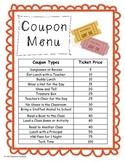 Coupon Reward Ticket Menu Behavior Management