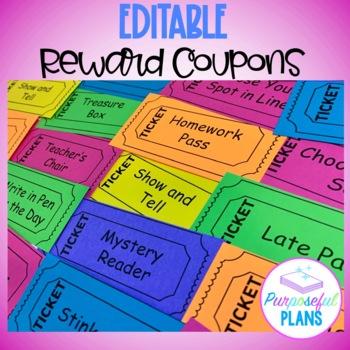 Coupon Reward Editable Tickets