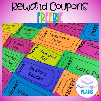 Coupon Reward Tickets FREEBIE
