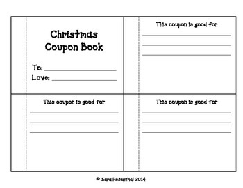 Coupons - Christmas Present for Parents